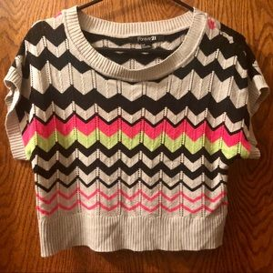 Crop Top, Zig Zag stripes, small